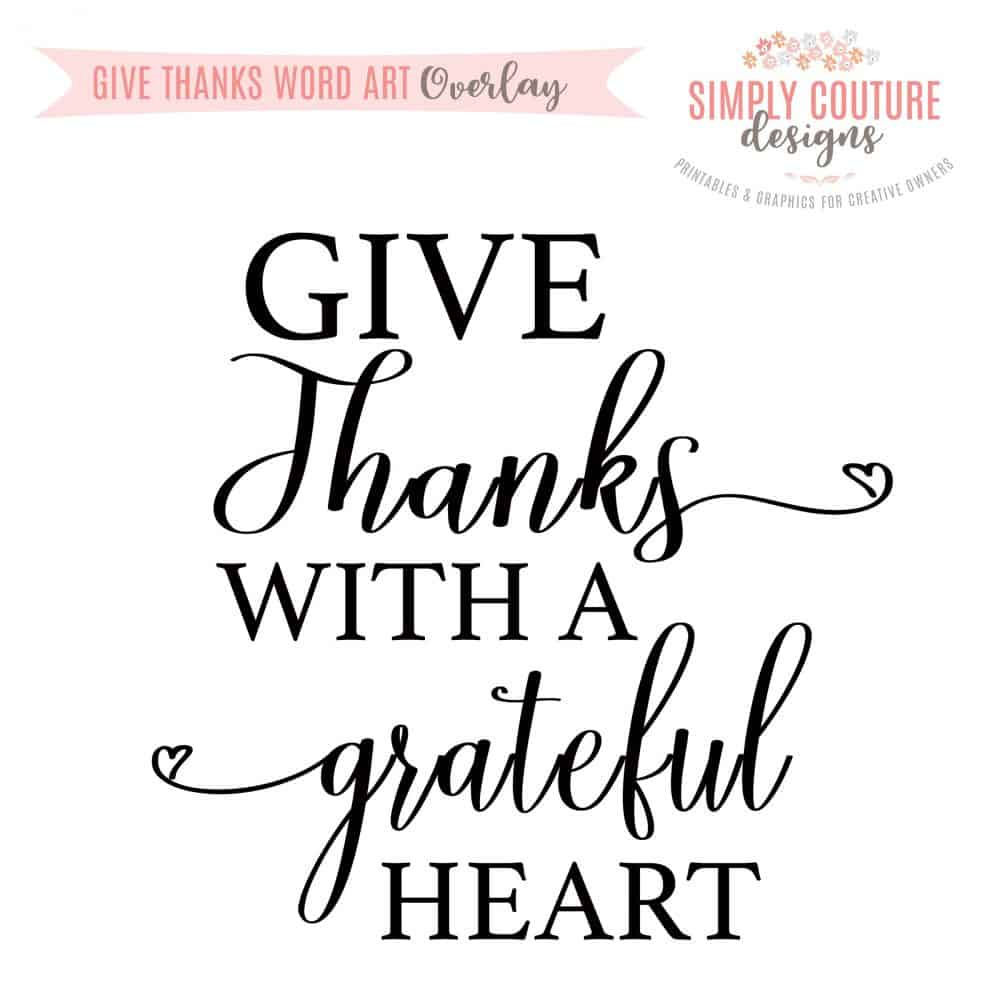 photograph regarding Give Thanks Printable identified as Supply Due With A Thankful Centre Phrase Artwork Overlay PNG, Electronic Down load