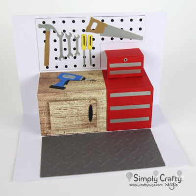 Garage Workshop Popup Card SVG File