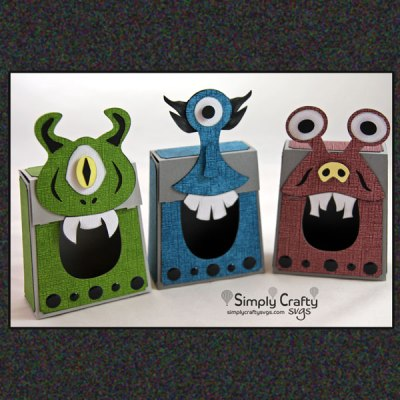 Monster Box Set SVG File