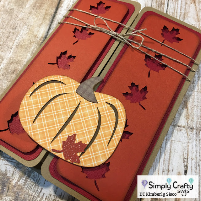 Fall Pumpkin Gatefold Card by DT Kimberly Sisco
