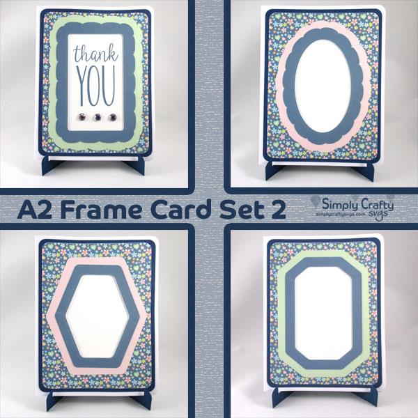 A2 Frame Card Set 2 SVG File