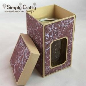 Half-Pint Mason Jar Box SVG File