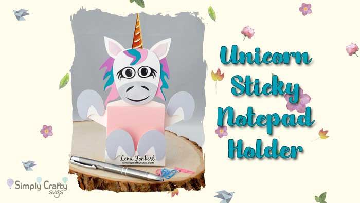 Unicorn Sticky Notepad Holder from DT Lena