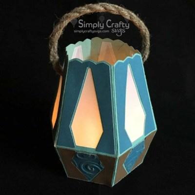 Hexagon Lantern SVG Turquoise