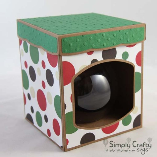 Round Ball Ornament Box with Lid 4 in. SVG File
