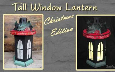 Tall Window Lantern – Christmas Version