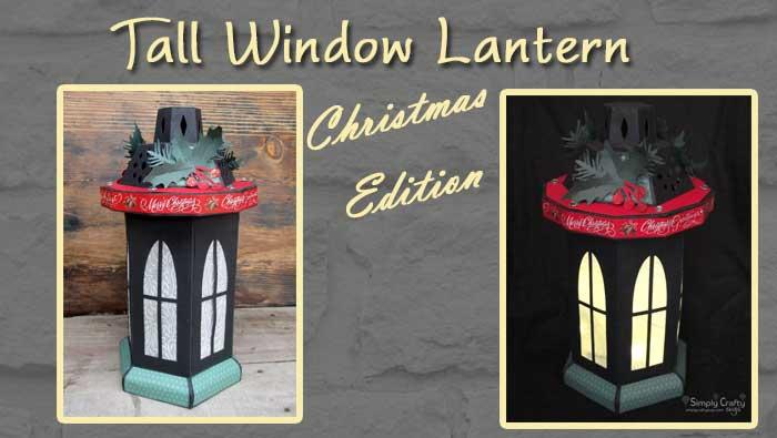 Tall Window Lantern – Christmas Version