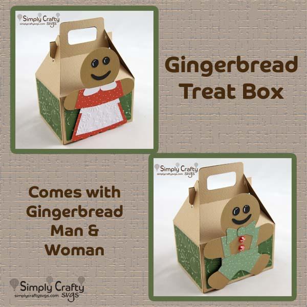 Gingerbread Treat Box SVG File