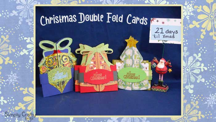 Christmas Double Fold Cards by DT Jana