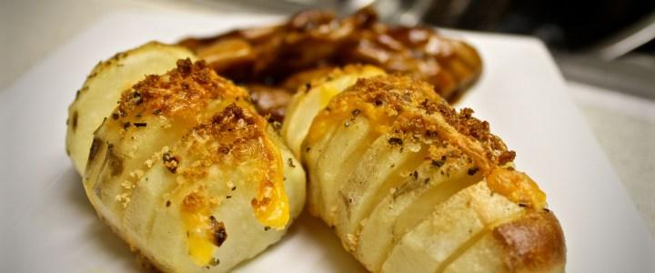 4-12: Cheesy Sliced Baked Potatoes