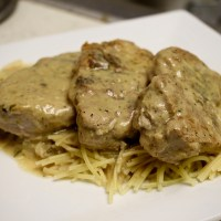 7-27: Pork Tenderloin in Creamy Sauce
