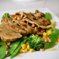 7-39: Pork Chops with Broccoli and Leek