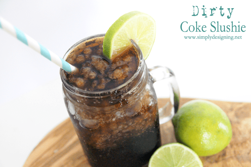 Dirty Coke Slushie | this is the perfect summer drink!  Definitely pinning for later!