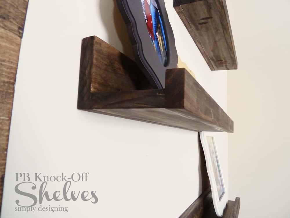 DIY PB Knock-Off Shelves   how to make knock-off shelves with a Kreg Jig   #diy #shelves #knockoff