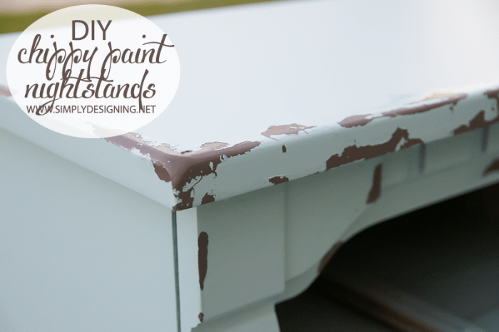 Chippy Paint | #diy #paint #furniture