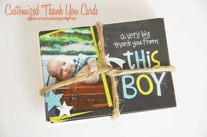 Customized Thank You Cards