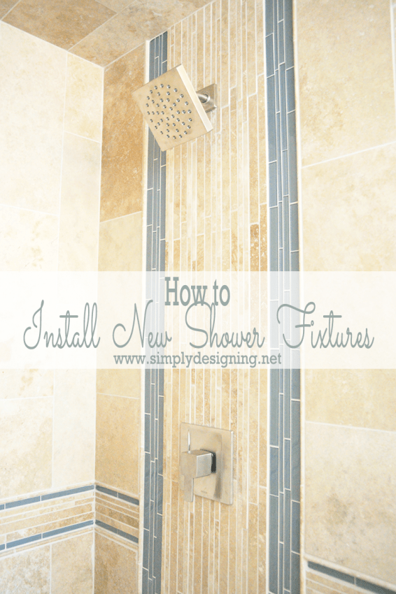 how to install new shower fixtures diy bathroom remodel