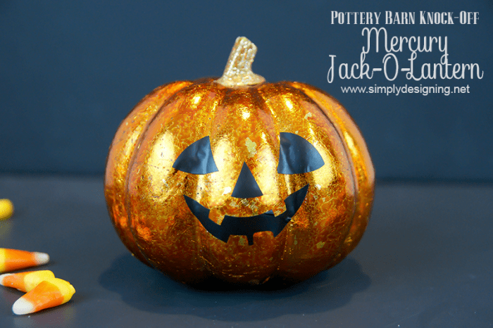 Mercury Jack-O-Lantern  #halloween #potterybarnknockoff #fall #crafts