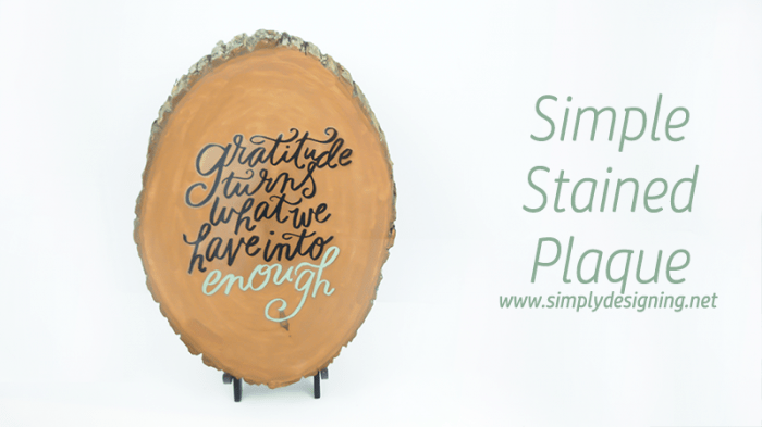 simple stained plaque  #stain #homedecor #decor