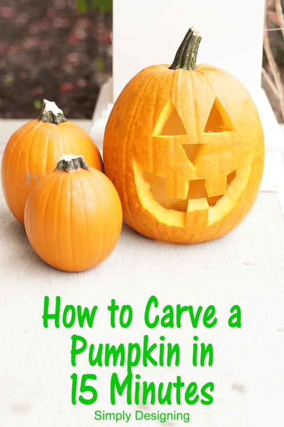 how to carve a pumpkin in 15 minutes. Black Bedroom Furniture Sets. Home Design Ideas