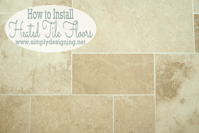Travertine Versailles FloorsMaster Bathroom Remodel  Part 7   How to Install Radiant Heated  . Tile Bathroom Remodeling Part 1. Home Design Ideas