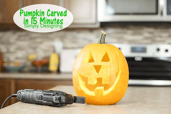 Pumpkin Carved in 15 Minutes #Halloween #pumpkin #pumpkincarving #jackolantern #crafts