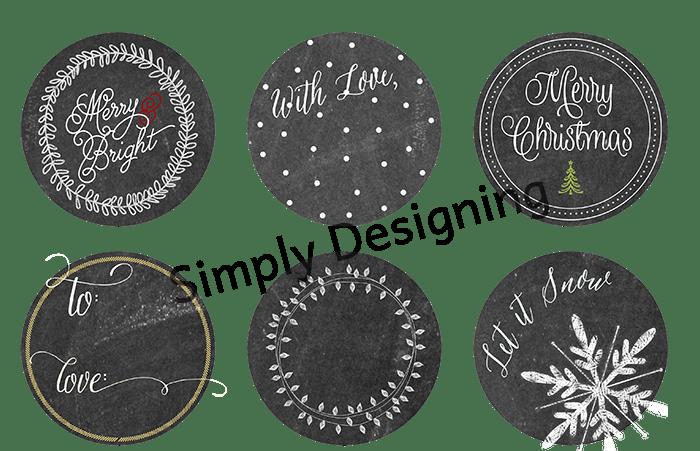 Chalkboard Christmas Tags Printable