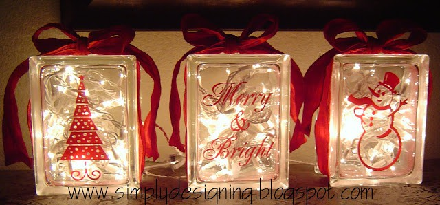 Holiday Glass Blocks