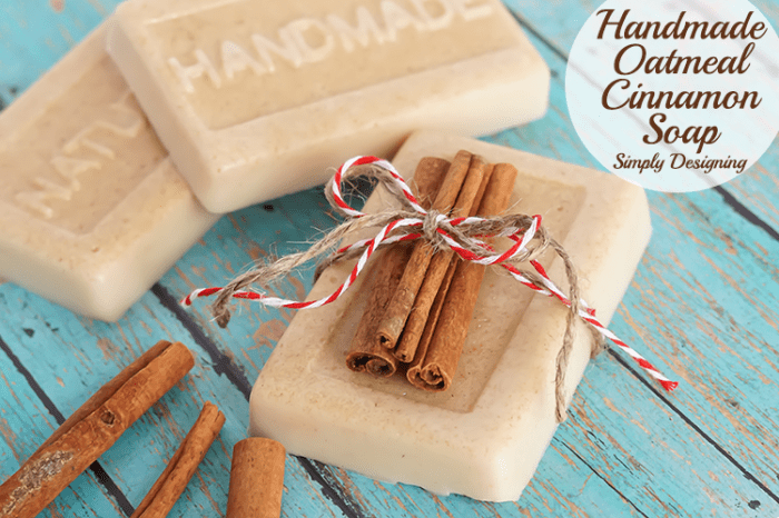 Handmade Oatmeal Cinnamon Soap Gift
