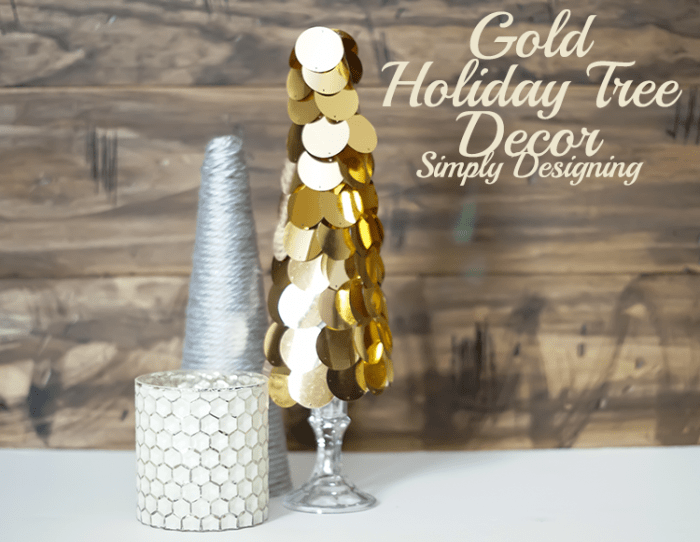 Modern Gold Holiday Tree Decor
