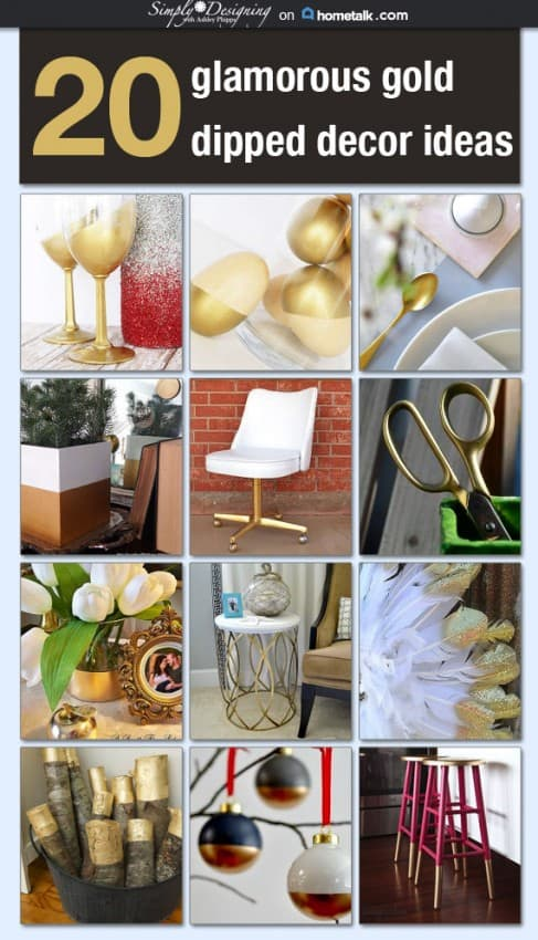 Gold Dipped Decor