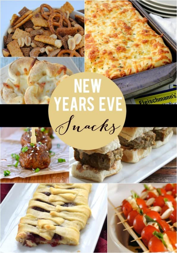New Years Eve Snacks | this is the best list of appetizers and yummy treats perfect for any party or get together!