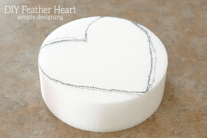 Draw Heart on StyroFoam