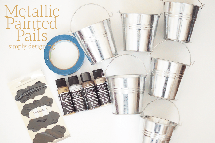 Painted Metallic Pails Supplies