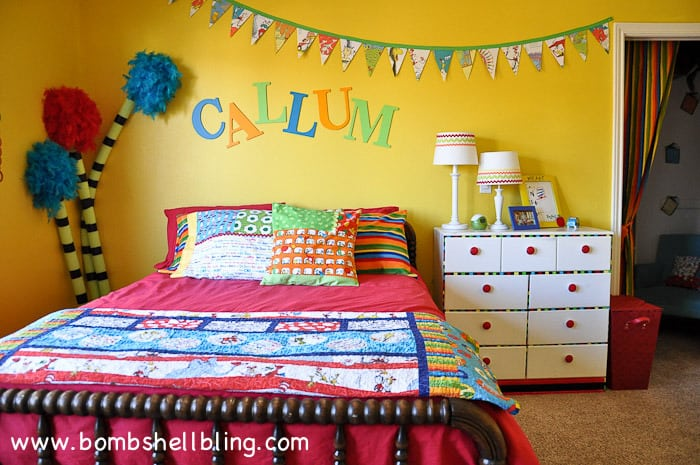 Dr. Seuss Inspired Bedroom