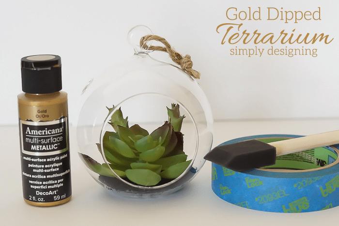 Gold Dipped Terrarium Supplies