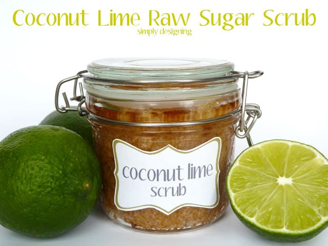 Coconut Lime Raw Sugar Scrub