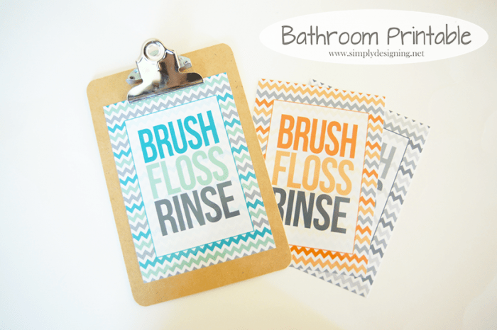 Brush Floss Rinse printable