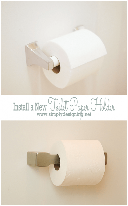 Install a New Toilet Paper Holder