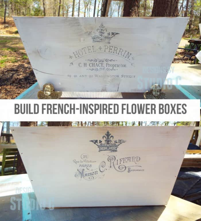 diy french flower boxes