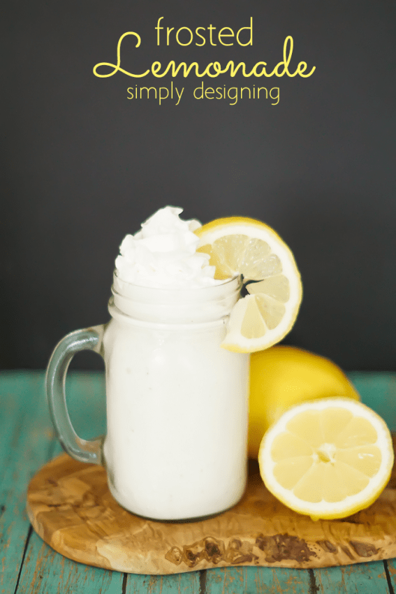 Frosted Lemonade - this is absolutely to-die-for delicious