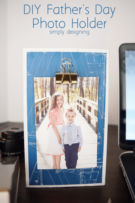 Fathers Day Photo Holder Gift Idea