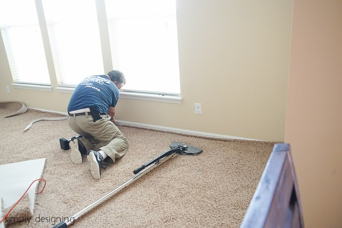 Installing New Carpet