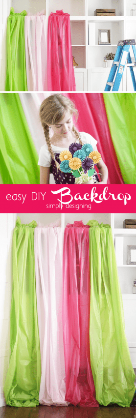 easy DIY Photo Backdrop perfect for nearly any photo shoot - but I really love this idea for a summer photo shoot with kids!