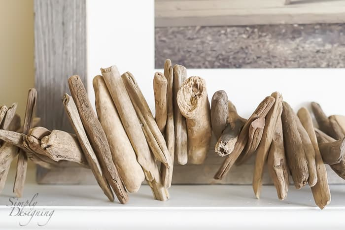 Decorate your Beach House - drift wood garland