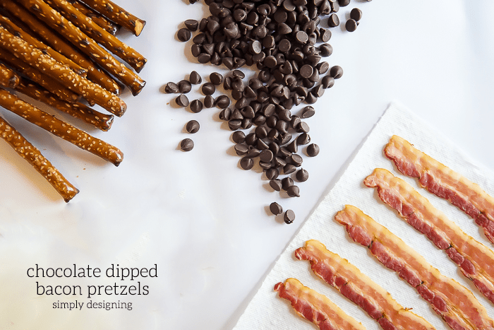 Chocolate Dipped Bacon Pretzels Recipe Ingredients