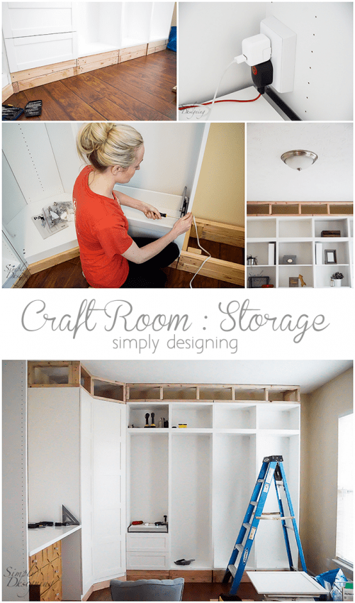 Craft Room - Installing Storage is the most important part of having a functional craft room