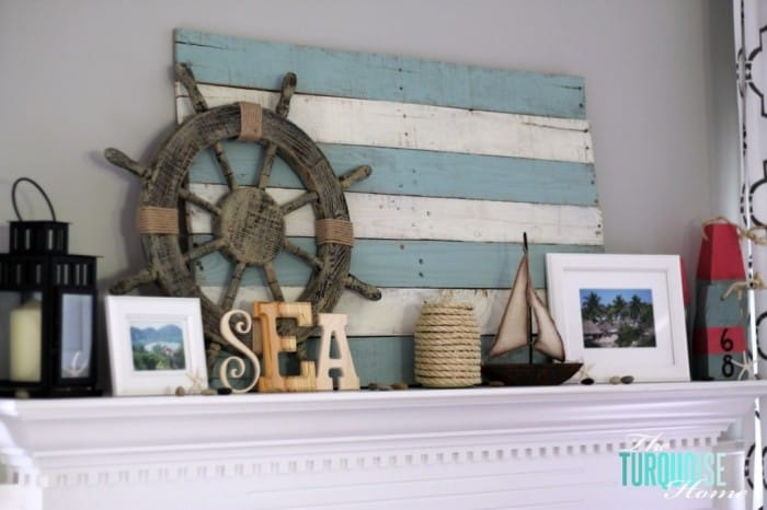 Lake Themed Mantel