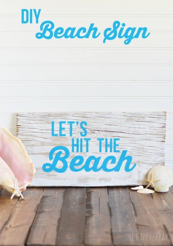 DYI Beach Sign