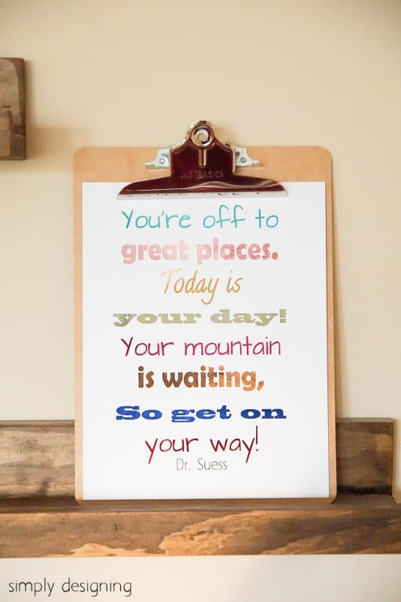 "Back to School Printable ""You're Off to Great Places"" Dr Suess"